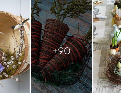 90 ohromujúcich nápadov na veľkonočnú výzdobu v rustikálnom štýle