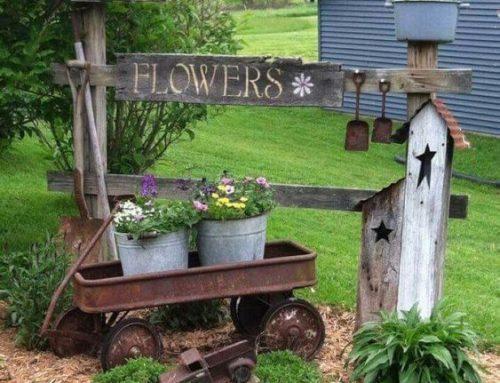 """60+ kúzelných záhradných dekorácií a nápadov na spôsob """"čo pivnica vydala"""""""