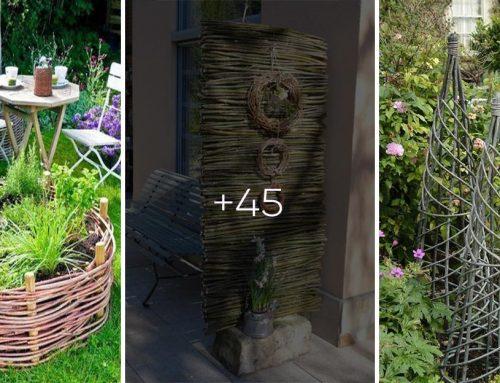 45+ fantastických nápadov, ako spraviť vašu záhradu originálnou a zadarmo pomocou prútia