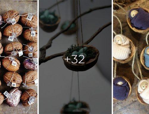 Vyhadzujete škrupinky z vlašských orechov? Vyrobte si z nich originálne dekorácie!