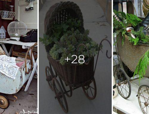 Rozmýšľali ste niekedy nad starým kočíkom ako dekoráciou záhrady alebo interiéru? Už nemusíte, pozrite si to