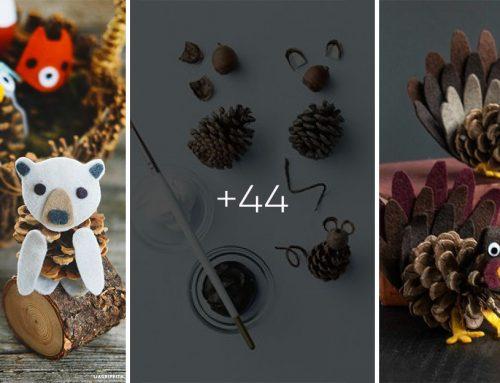 40 nádherných zvieratiek vyrobených z nazbieraných šišiek. Spravte si najkrajšie dekorácie