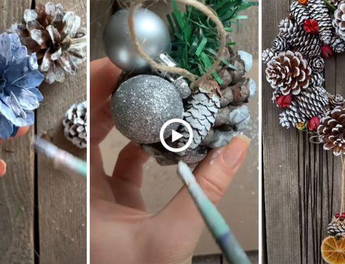 Pôsobivé vianočné dekorácie vyrobené zo šišiek. Podľa týchto návodov ich hravo zvládnete vyrobiť aj vy!