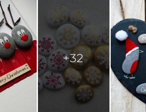 Zopár kamienkov, trošku farby a tento rok vyriešite vianočnú dekoráciu za babku