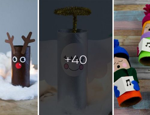 Vianočné kreatívne šantenie pre deti. 40 dokonalých nápadov z kartónových roliek