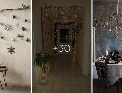 Zaveste veľký konár na strop alebo stenu a spravte z neho dominantnú vianočnú dekoráciu. Ukážeme vám ako
