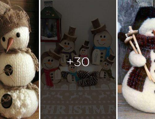 Snehuliaci bez snehu. Vyrobte si rozkošné dekorácie a vyčarujte zimnú atmosféru u vás doma. Ukážeme vám, ako na to!