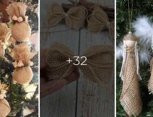 Zoberte kúsok vrecoviny a o vianočné tvorenie máte postarané. Pozrite si tieto úžasné nápady!