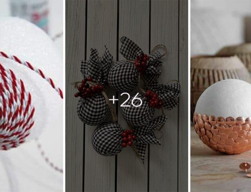 Toto vás bude baviť. Vyrobte si originálne vianočné ozdoby na stromček z polystyrénovej gule