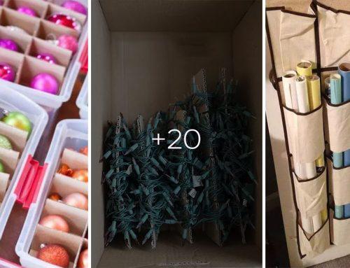 20+ nápadov, ako uskladniť vianočné dekorácie tak, aby ste to mali o rok o niečo jednoduchšie