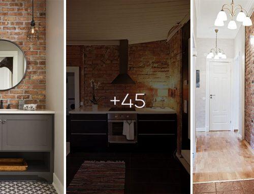 Tehlové steny spravia z miestnosti výnimočný priestor – nebojte sa experimentovať!