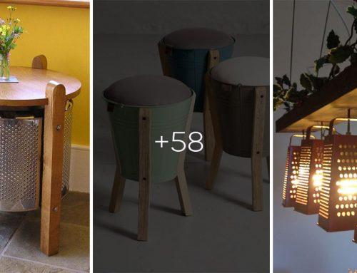 Vdýchnite starým veciam nový život: Lampy zo starých plechových kýbľov alebo stolík zo starej práčky