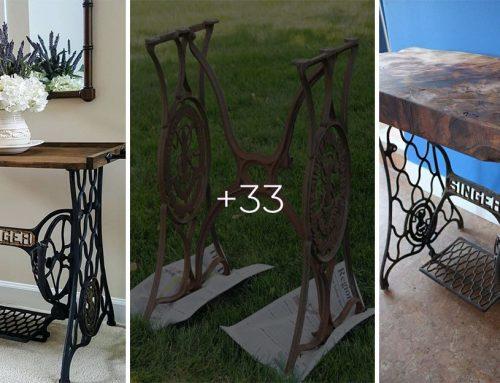 Ako premeniť legendu medzi šijacími strojmi na dizajnový kus nábytku? 30+ skvelých inšpirácií
