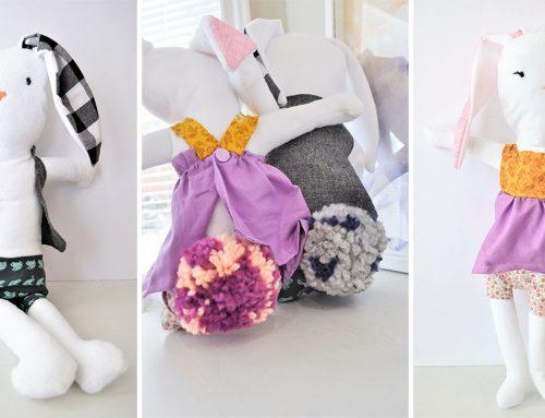 Ako si vyrobiť jednoduché plyšové zvieratko: Rozkošné zajačiky!
