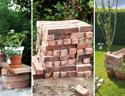 Staré tehly záhradám pristanú. Urobte si z nich cestičky, lavičky a romantické steny!