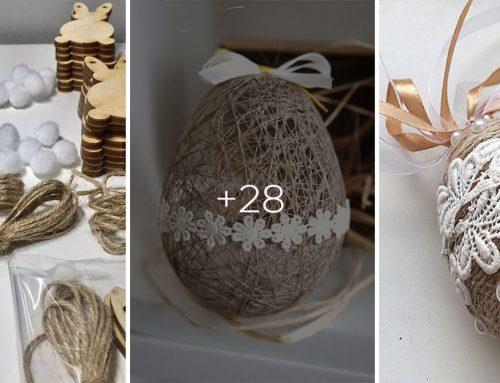 Veľká noc sa pomaly blíži! Pripravte si originálne dekorácie z kúskov špagátu – tieto máte hotové raz – dva!