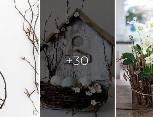 30+ krásnych jarných dekorácií vyrobených z popadaných konárov, ktoré ste si pozbierali na prechádzke