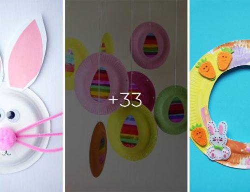 Veľkonočné tvorivé dielničky pre deti. Zoberte papierové taniere a premeňte ich na rozkošné kuriatka a zajačiky