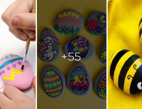 Zábavné maľované kamienky inšpirované jarou a Veľkou nocou. Zabavte sa spolu s vašimi deťmi!