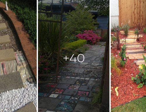 40+ kreatívnych nápadov, ako si vytvoriť svoj vlastný, originálny záhradný chodník