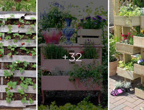 Praktické tipy a triky na úsporu miesta v každej malej záhrade. Prispôsobte si ju podľa seba a využiť nepotrebné veci!