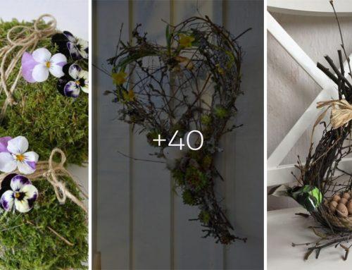 40 prekrásnych jarných inšpirácií pre vaše bývanie. Nazbierajte si prútie a mach, ideme tvoriť!