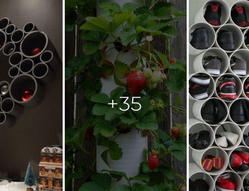 30+ skvelých nápadov z plastového odpadového potrubia pre váš dom a záhradu