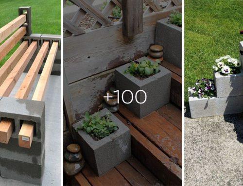 Stovka geniálnych nápadov, ako využiť betónové tvárnice nielen vo vašej záhrade