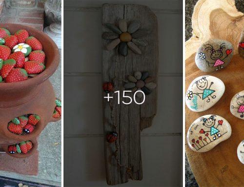 Vyrobte si veselé dekorácie z obyčajných kamienkov. Inšpirujte sa viac ako 150 novými nápadmi!