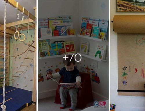 Ako vybaviť zábavnú a funkčnú detskú izbu? Pozrite si 70 úžasných nápadov, ako zariadiť doma detské kráľovstvo