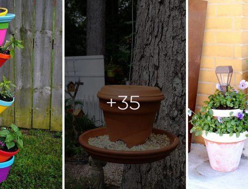 30+ najfarebnejších urob si sám nápadov z nepotrebných hlinených kvetináčov do vašej záhrady
