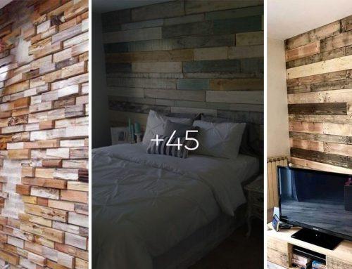 Pripravte si obklad na stenu z rozobratej palety a iného dreva. 45 nádherných inšpirácií pre váš domov