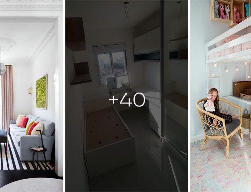 40+ veľkolepých nápadov a riešení, ako zmestiť do malej izby všetko čo potrebujete