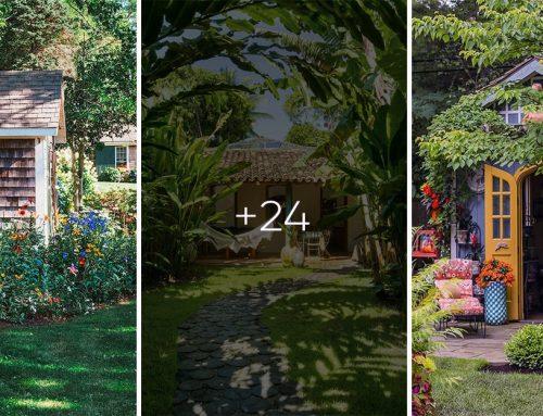 24 čarovných záhradných domčekov a chatiek, ktoré sa ukrývajú pod krásou prírody