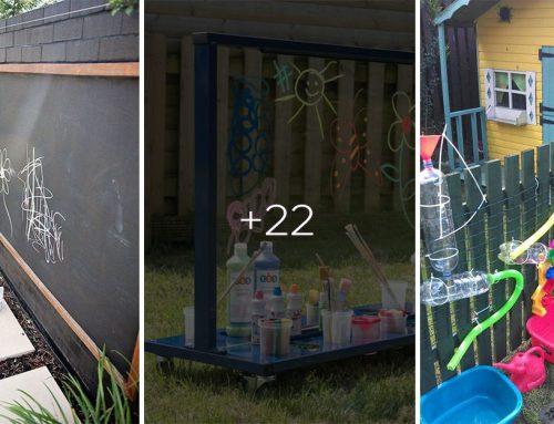 Vytvorte na záhrade pri plote zábavný kútik pre deti. 20+ fantastických nápadov, ako zabaviť deti počas prázdnin