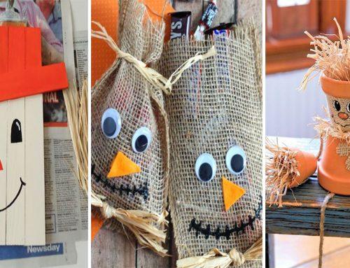 Vyrobte si spolu z deťmi dekoratívneho strašiaka a privítajte jeseň u vás doma