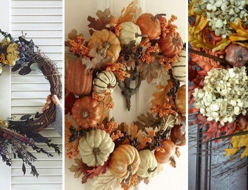 Vyrobte si krásny jesenný veniec na dvere. Rýchlo a jednoducho s týmto návodom