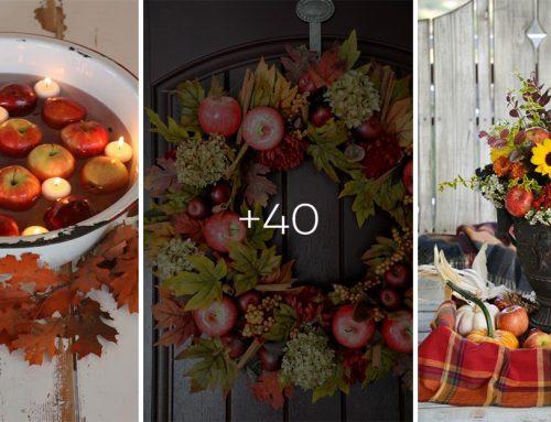 Zužitkujte na pohľad okúzľujúce, nazbierané jabĺčka a vytvorte si krásne jesenné dekorácie!