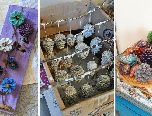 Využite nazbierané šišky k vytvoreniu krásnej a lacnej jesennej dekorácie