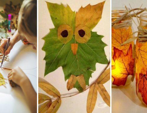 Pestrofarebné koláže, svietniky aj vence vyrobíte z farebných listov. Pustite sa do jesenného tvorenia s deťmi